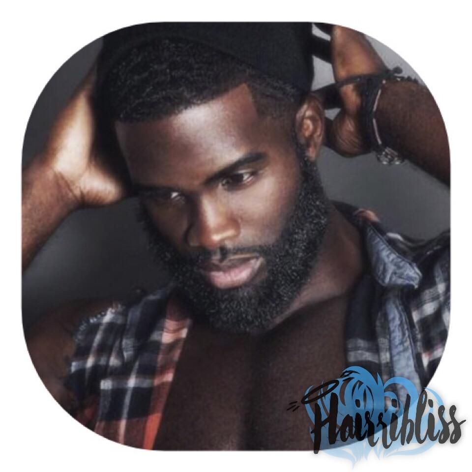 Absolutely Phyne, black model, beard, hairribliss on hairrible.com