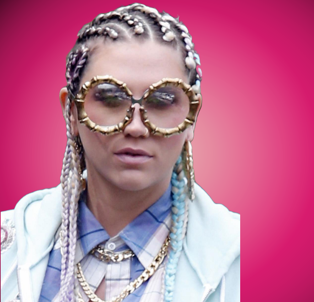 Ke$ha, Kesha, cornrows on white woman, hairrible, hairrible.com